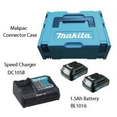 Makita 197652-7 Набор MAKPAC1 DC10SB-1шт,BL1016-2шт