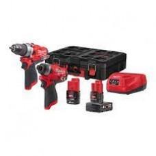 Milwaukee M12FPP2A-422P Набор аккумуляторного инструмента M12FPD; M12FID; M12B2; M12B4; C12C; Pack-Out Box