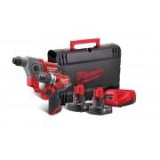 Milwaukee M12FPP2B-602X Набор аккумуляторного инструмента  M12 FPD; M12 CH;  М12 В6 х 2; C12C; HD кейс
