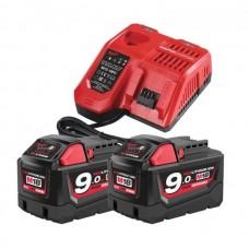 Milwaukee M18NRG-902 Набор аккумуляторных батарей+Зарядное устройство